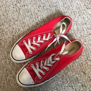 Red chuck Taylor low tops